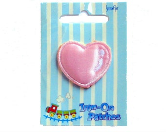 Stitch Art Decorative Iron-On Pink Heart Motifs