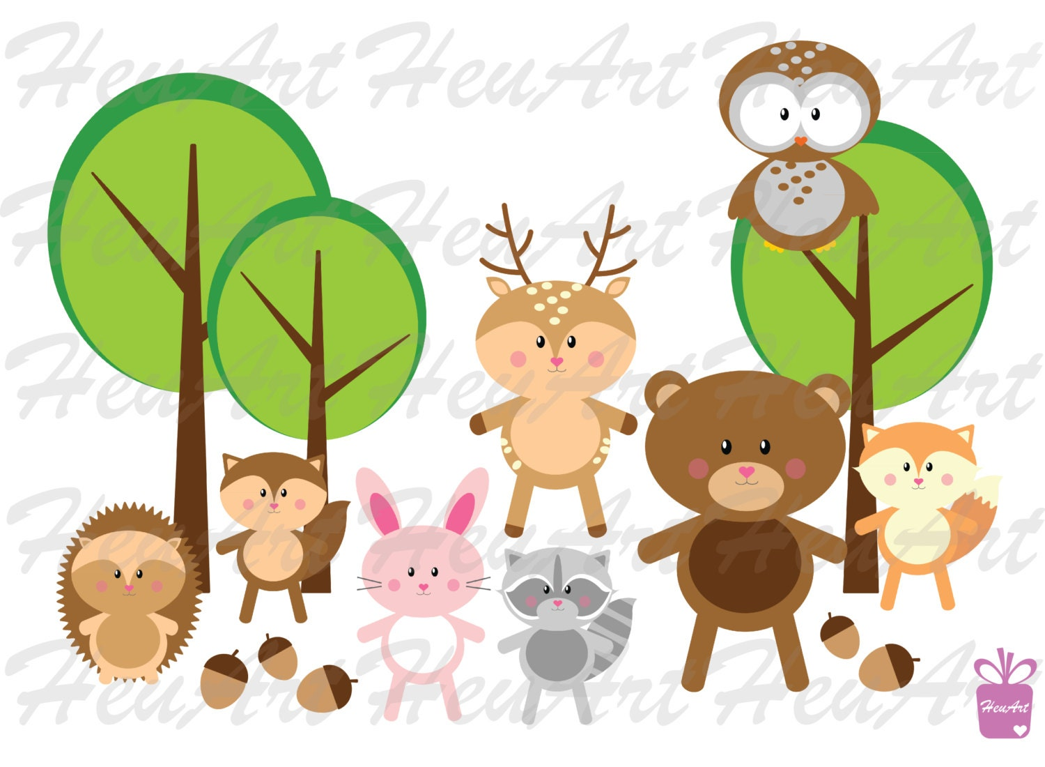 new woodland animals clipart cute woodland animal woodland