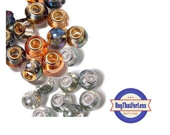 Glass Beads, Assorted Colors, 6 pcs/pkg  **FREE Shipping with orders 10 dollars+ **