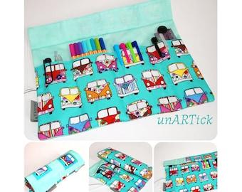 PIN roll, roll pencil case, brush roll, spring bag