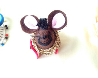 Mr. T  felt mouse, handmade, Gift, Decoration