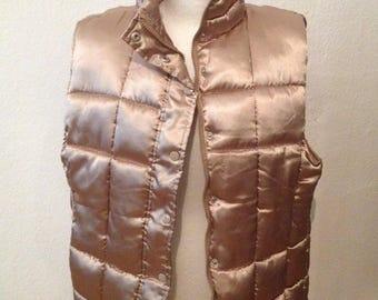 Unisex oversized jacket gold