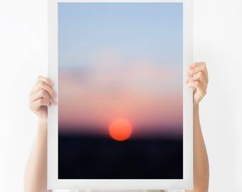 Sunrise print, sunrise photography, Photography print, photography, wall art, nature photography, digital print, landscape