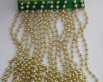 "18"" Christmas Bead Garland in Gold"