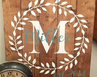 Family Established Sign, Last Name Sign, Family Name Wood Sign, Rustic Family Name Sign, Family Name Sign, Farmhouse Decor, Rustic Decor,