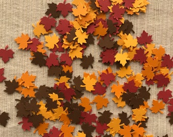 Leaf Confetti - Fall Confetti - Fall Party Decor - Table Decorations - 200 pieces