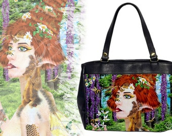 Beewildered - Leather HandBag - Fantasy