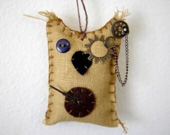 owl steampunk ornament