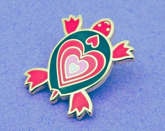Turtle Enamel Pin Badge | Valentine Heart Pin Badge | Enamel Pin Badge | Hard Enamel Pin Badge | Heart Pin Badge Gift