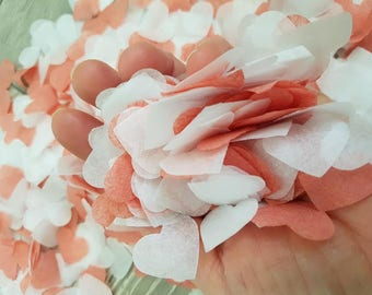 Rodonit & White beautiful colors confetti variation/ Wedding /Birthday /Baby showers throwing and table decor.