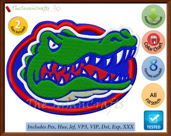 Florida GATORS EMBROIDERY  DESIGNS Pes, Hus, Jef, Dst, Exp, Vp3, Xxx, Vip