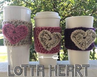 Heart Cozy/Coffee Cozy/Coffee Sleeve