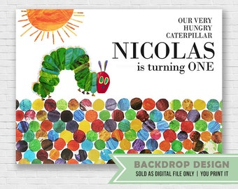 Hungry Caterpillar Backdrop // DIGITAL FILE ONLY