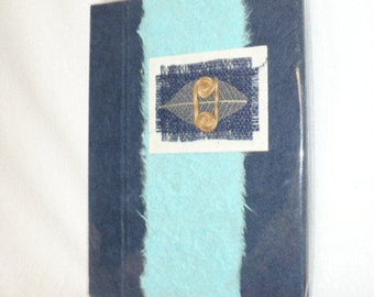 Handmade paper journal, handmade paper and decorated cover