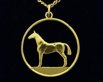 Irish 20p Horse Pendant