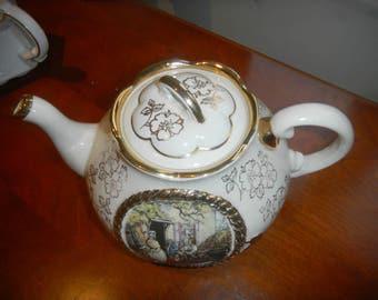 LINGARD WEBSTER GILDED Art deco Stunning Tea Pot