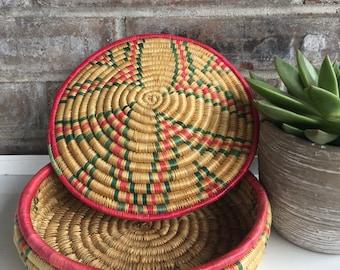 Boho Wooven Coil Storage Basket
