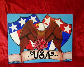 USA Pride Painting by Sunny Rose