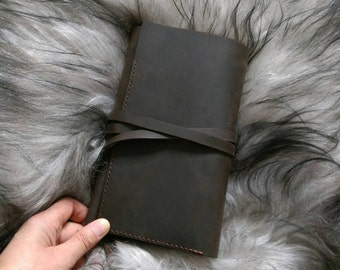 Leather notebook case, leather notebook cover, Moleskine, field notes, A5