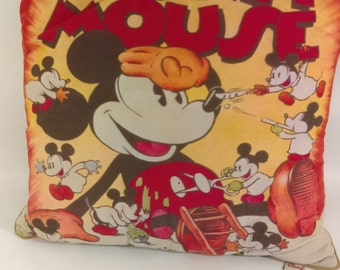 Vintage Style Mickey Mouse Pillows