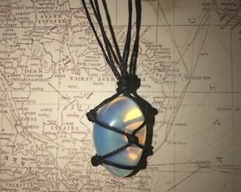 Opalite thread wrapped choker