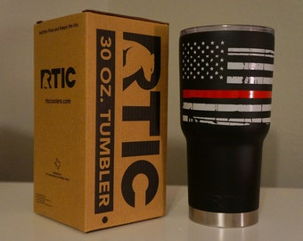 Red Lives Matter Thin Red Line RTIC Tumbler