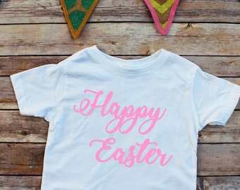 Easter Toddler shirt, Little girl Easter, Happy Easter onesie, Easter baby onesie, 1st Easter, baby girl, Easter shirt, toddler easter shirt