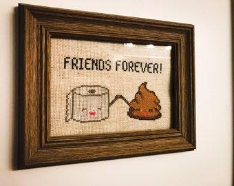 Cross Stitch - Friends Forever