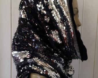 Sequin Snood Hood with soft Fleece lining