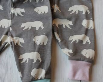 Pants Organic cotton jersey, Polar bear-