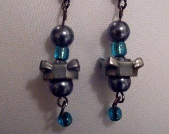 Metal Bolt Earrings
