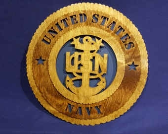 "12"" U.S. Navy Master Chief wall tribute"
