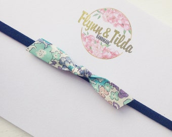 Baby liberty print headband in spring colours