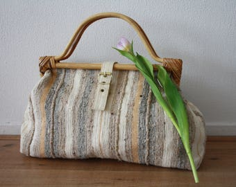 Bag with Wooden Handles