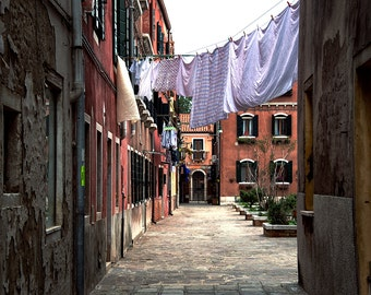Laundry Day in Venice, Italy, Travel Photography, Fine Art Print.