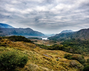 Kilarney Ireland: Lakes and Mountains, County Kerry, Ireland, Europe, Travel Photography, Fine Art Print, Home Decor