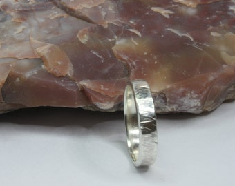 Textured Sterling Silver Ring / Band / Size 7