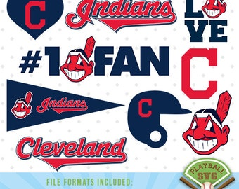 Indians Cleveland SVG files, baseball designs contains dxf, eps, svg, jpg, png and pdf files. PB-005