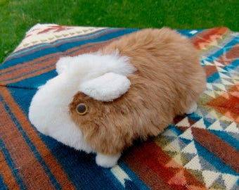 Large Guinea Pig Plush Toy; Ultra Fluffy 100% Alpaca made, Peruvian stuffed Animal; Unique and Special Gift; Peruvian Craft Gift