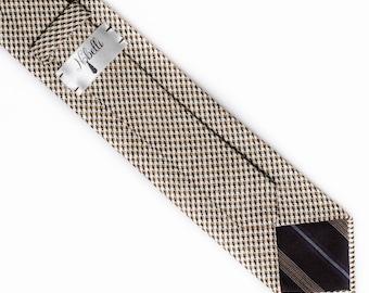 Wool tie, brown tie, mens brown necktie, slim necktie, mens tie,