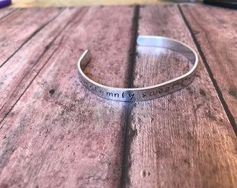 I Solemnly Swear I Am Up To No Good Harry Potter Inspired Hand Stamped Aluminum Bracelet