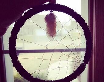 Spirit cactus quartz spider web dream catcher