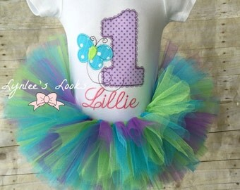 Butterfly tutu birthday outfit