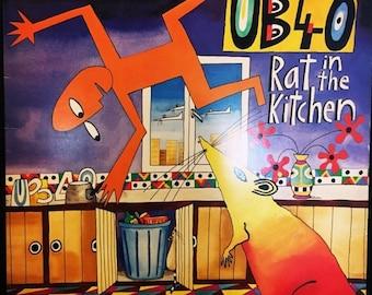 ON SALE Vintage 1986 UB-40 Rat in the Kitchen Vinyl Lp Record Good Condition