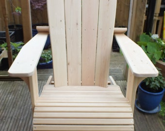 Handmade Adirondack Garden Patio Chair FREE Delivery in BH & Fringes