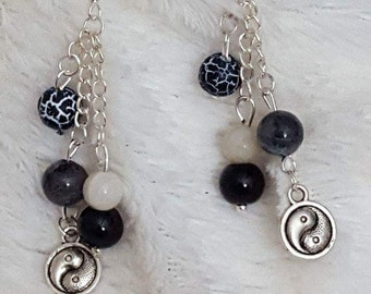 Yin and yang earrings