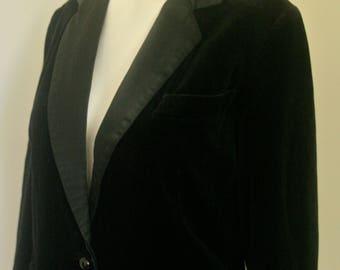 Vintage Black Velvet Jacket Size 12