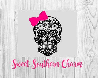 sugar skull svg - svg file - svg files - skull file - skull svg - skull svg file - sugar skull file - sugar skull cut file - skull cut file