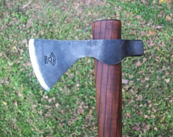 Hand forged hammer poll Tomahawk special order with edge cover..