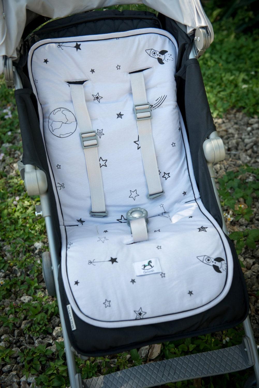 gray baby stroller liner paduniversal linerbaby car seat. Black Bedroom Furniture Sets. Home Design Ideas